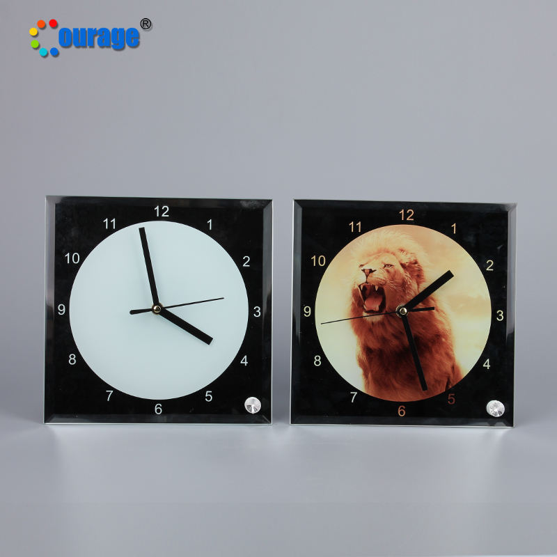Sublimation Coating Glass Photo Frame Custom Design with Clock