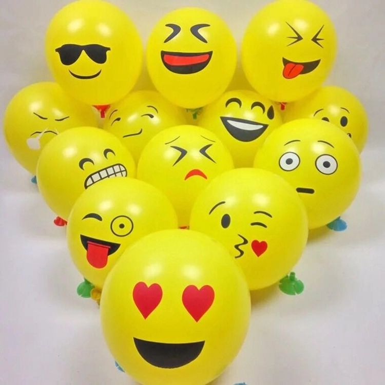 NEW Different Types Cartoon Emoji Ballon Party 12inch Latex Air Balloons Toy