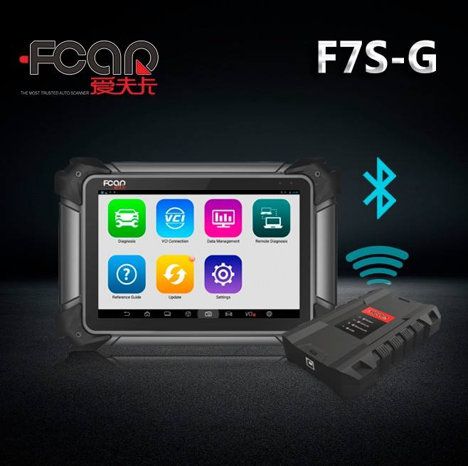 Tablet Heavy duty truck gasoline car ECU reader F7S-G