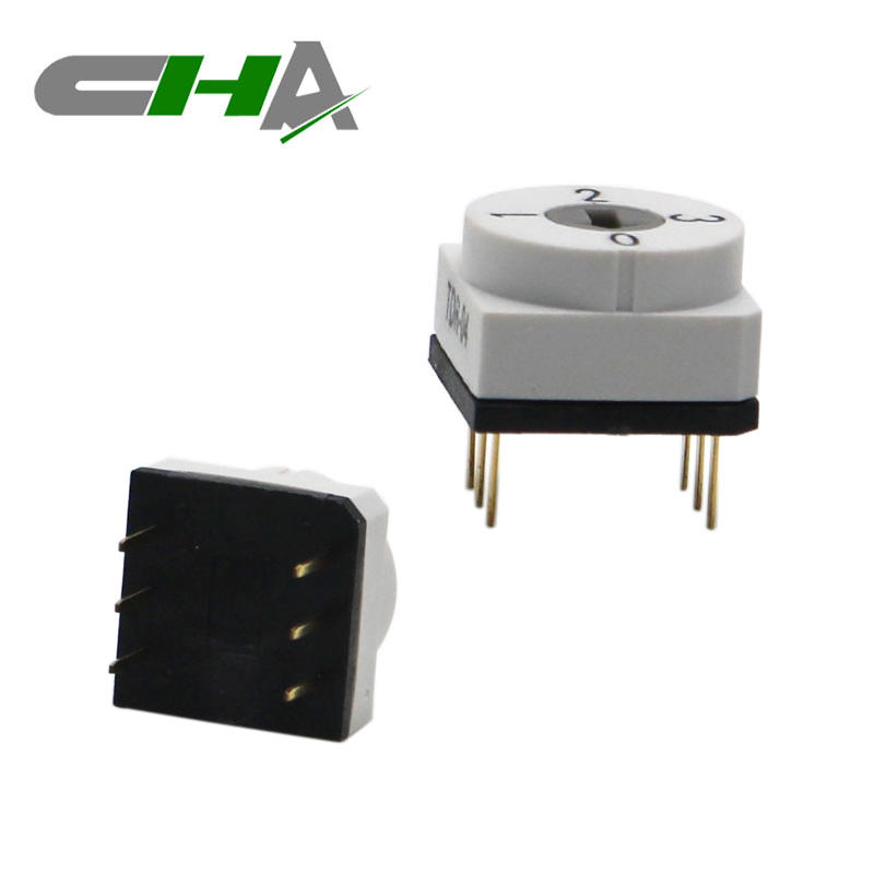 CHA Factory White Color 4 Position Dip Rotary Switch