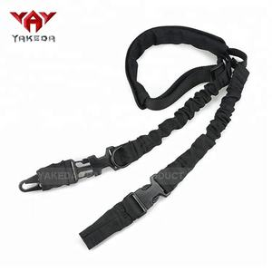 Yakeda Hohe qualität 2 punkt outdoor military sling bungee einstellbare tactical airsoft rifle gun sling