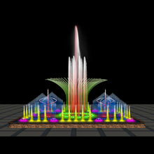 Marble decoration water fountain colorful music water fountain