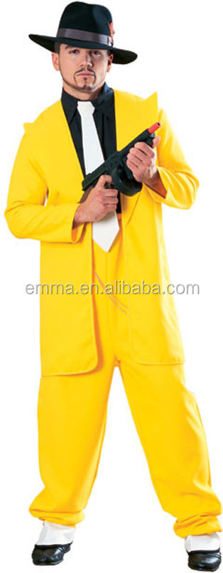 Top fashion baru desain kuning zoot suit fancy dress kostum BMG-2233