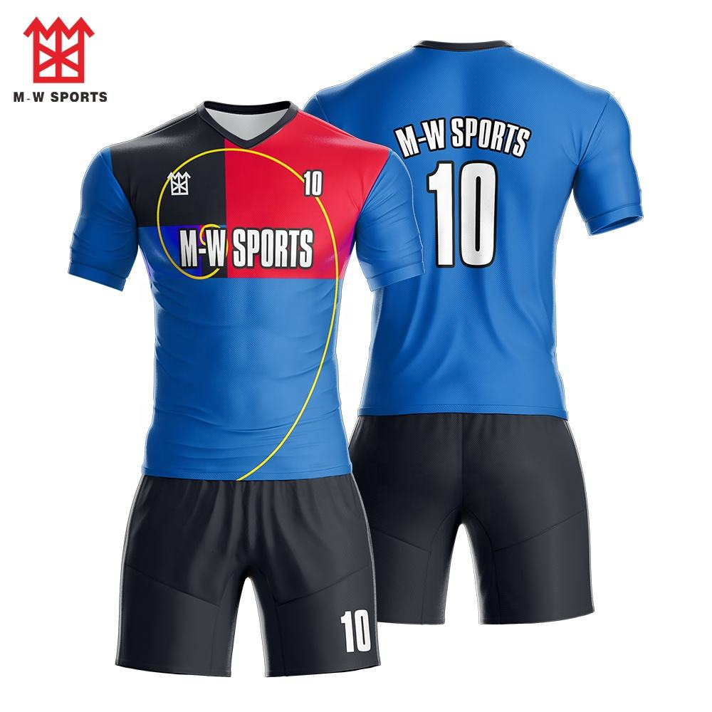 Promotional Full Set Customized black Stripes Men Soccer Jerseys, Yellow and Green Kids Uniforms