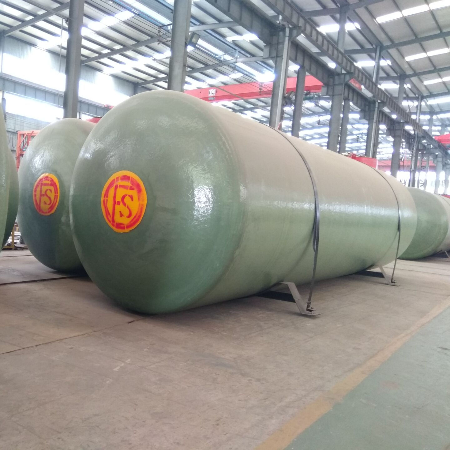 20000L to 50000L SF fiber glass double wall underground fuel oil storage tank
