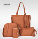 2019 Amazon hot sale Fashion lady handbag women bag sets high quality PU handbags 4 pcs in 1 set