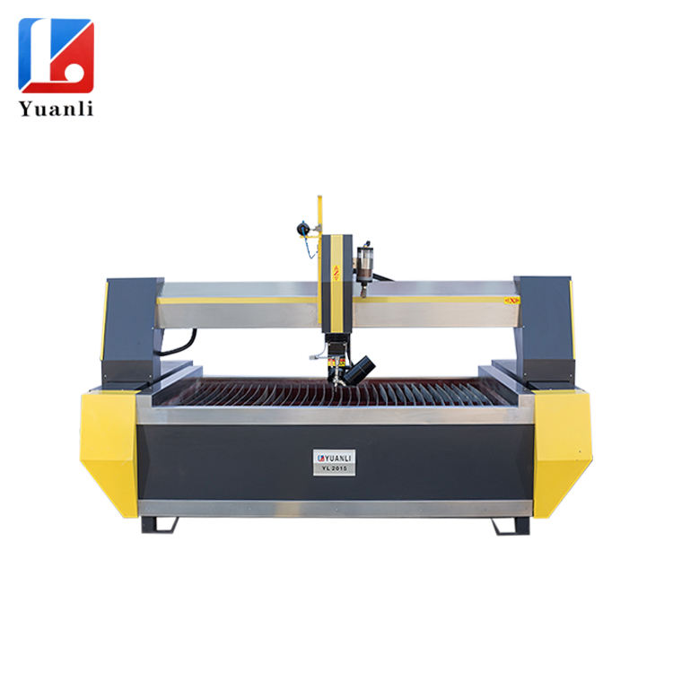 2018 hot selling 5Axis waterjet cutting machine cheaper price waterjet machine for iron/steel/aluminium /copper /titanium