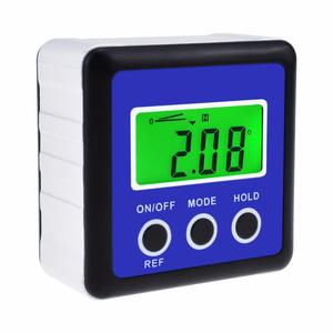 Digital Angle Gauge IP54 Digital Inclinometer with Magnetic Base /& LCD Display Screen,Accurate Fast 4 x 90/° Silver