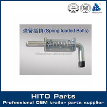 Spring Loaded Bolts, Safety Pins, Spring Latches For Heavy Duty trailer