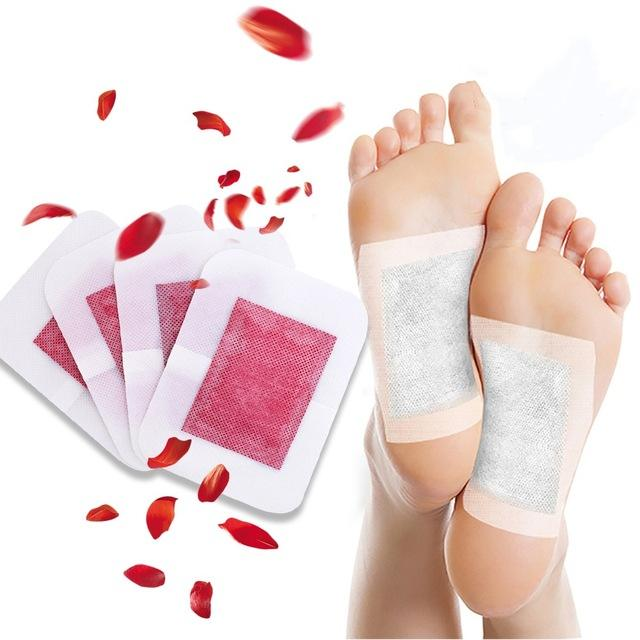 KONGDY Chinese detox foot pads remove waste from body detox and slim foot patch with rose extract
