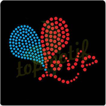 2013 nuevo diseño de laimagen del corazón de diamante deimitación caliente fijar patrones para t- shirt, bolsos y sombreros
