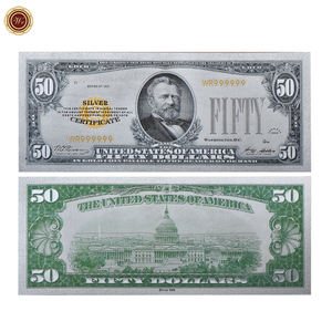 Amazon Hot Sale US Dollar Banknote 1928 Money 50 Dollar Gold Foil US Dollar Banknote For Collection
