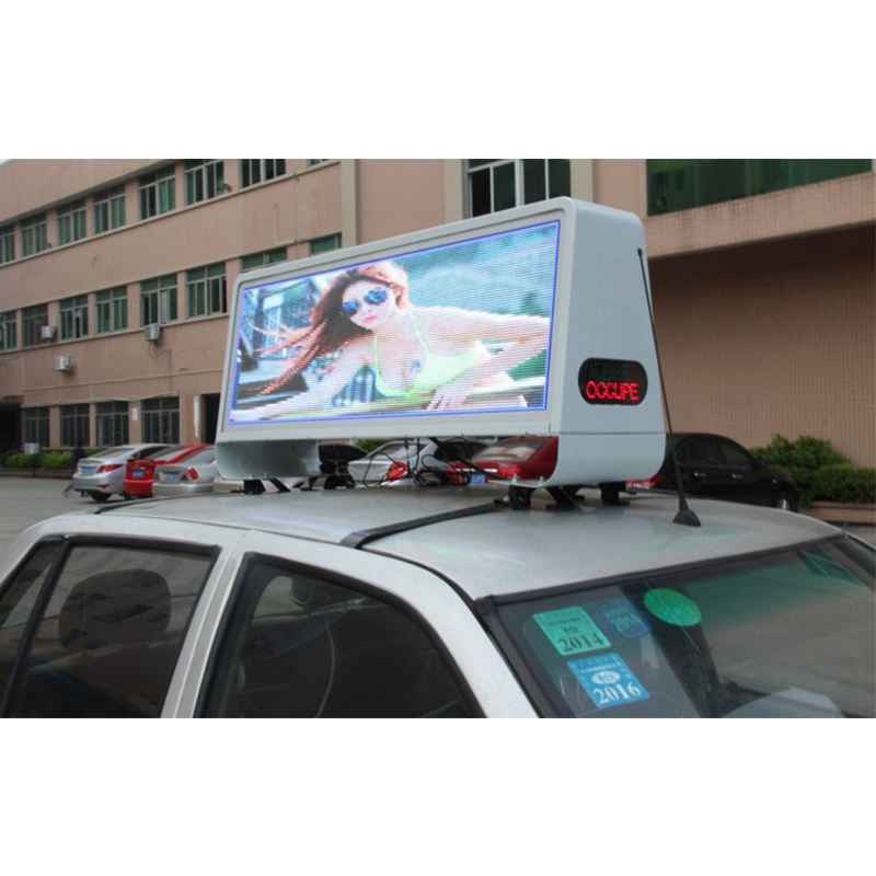 3-year warranty LED 3G 4G WiFi taxi roof led display/led screen car advertising/Digital Taxi Top Advertising sign