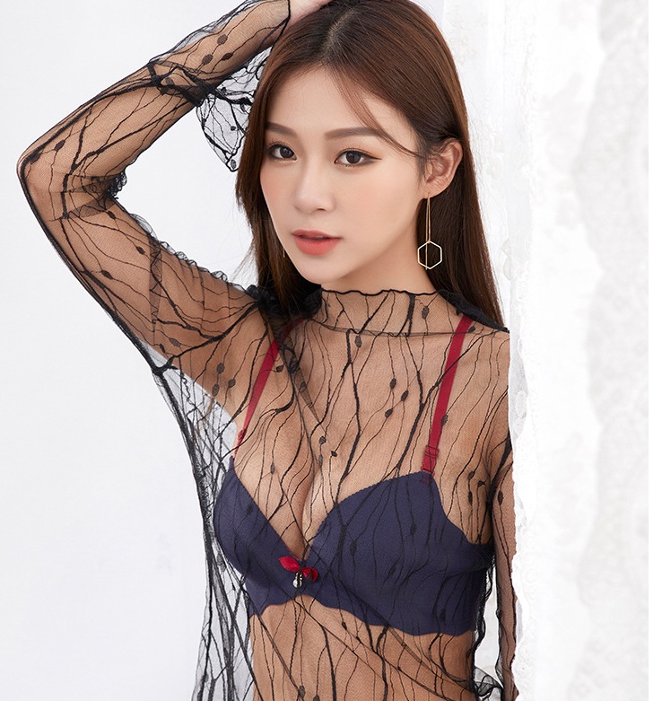 Beautiful bonded sexy net bra designs of ladies one piece bra and panties images