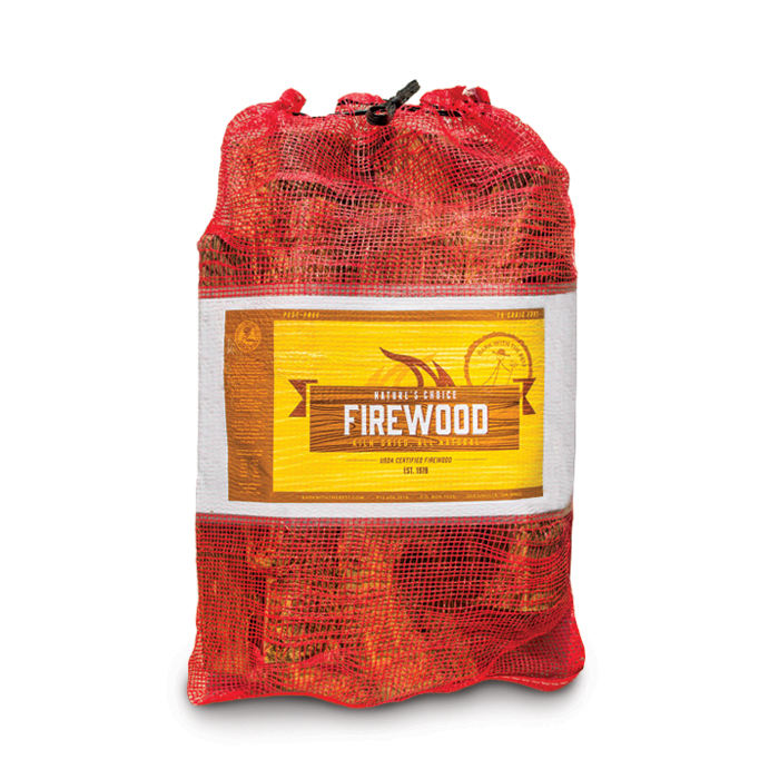 Firewood mesh bags with or without label