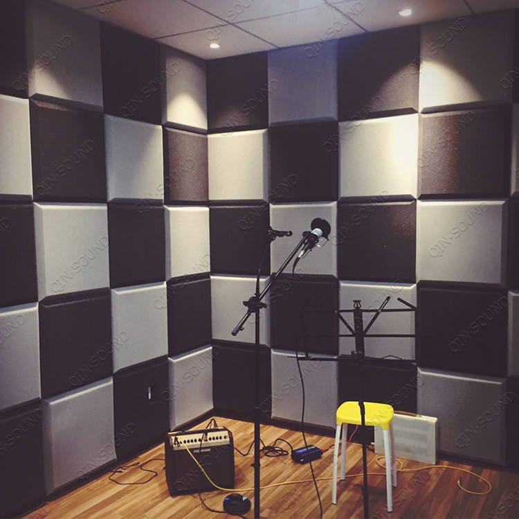 Black Studio Soundproof Sound-absorbing Panel Bevel Acoustic Foam