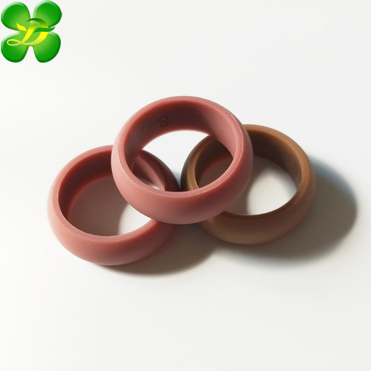 Accept Custom Logo Silicone Rings Wedding Bands