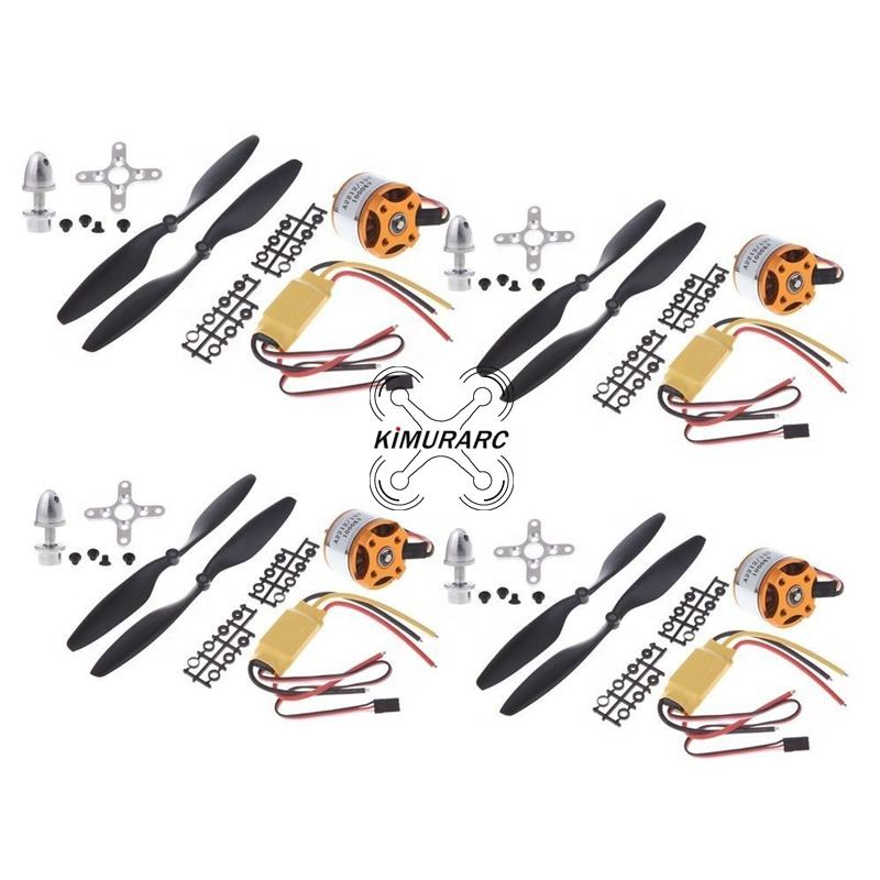 A2212 1000KV RC Brushless Motor 30A ESC 1045 Propeller for RC Aircraft Multicopter quadcopter