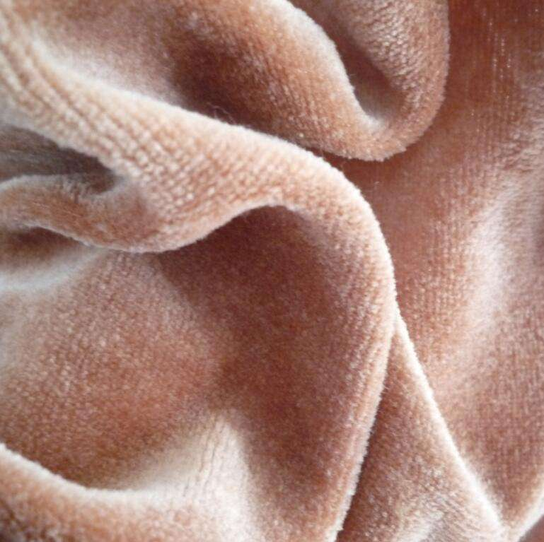 100 organic cotton velour fabric,organic cotton velvet fabric for baby clothing