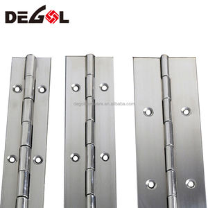 Top quality furniture hardware continuous stainless steel piano hinge
