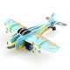 Promotional mini airplane kid 3d puzzle piece charm intelligence toys DIY crafts assemble mario pull back racers