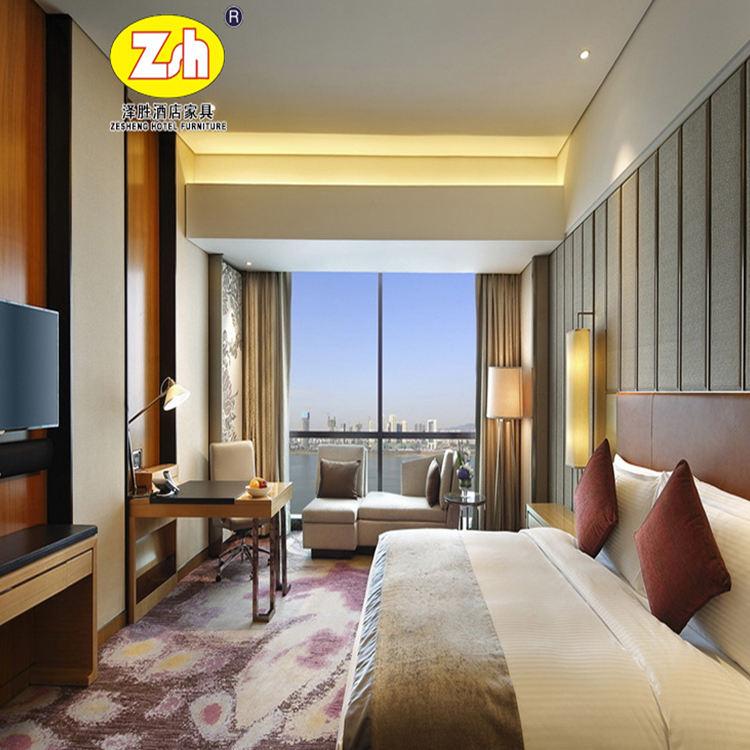 Foshan shunde Zesheng 5 star top qualité chine meubles d'hôtel hôtel <span class=keywords><strong>chambre</strong></span> ensemble ZH-297A