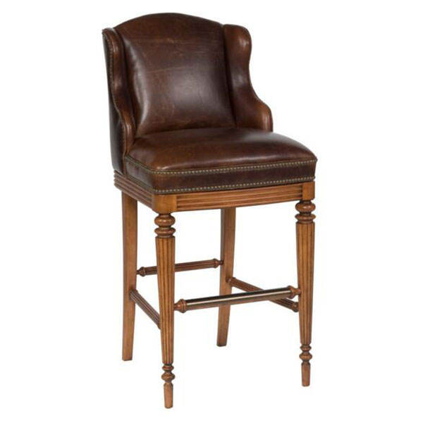 BC-294 Good Quality Real Leather High Seat Chair For Restaurant Bar Counter