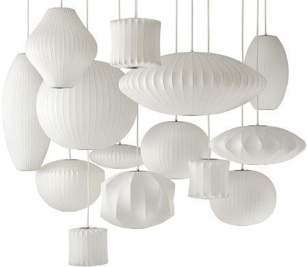 P-001 simple sculptural shapes innovative taut plastic that coated a steel wire-frame Bubble Saucer Pendant Lamp