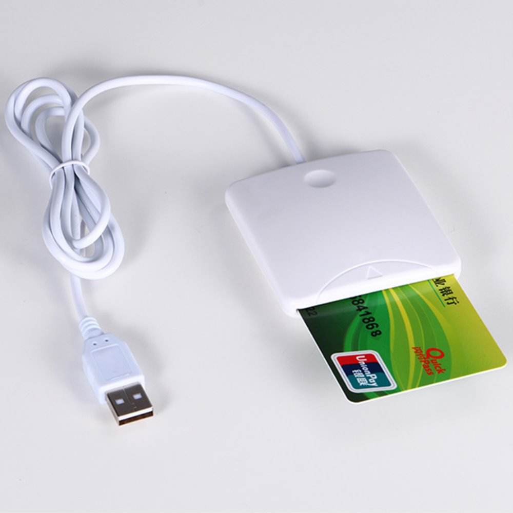 USB Contact Smart Chip Card IC Cards Reader Writer With SIM Slot For Microsoft USB-CCID driver