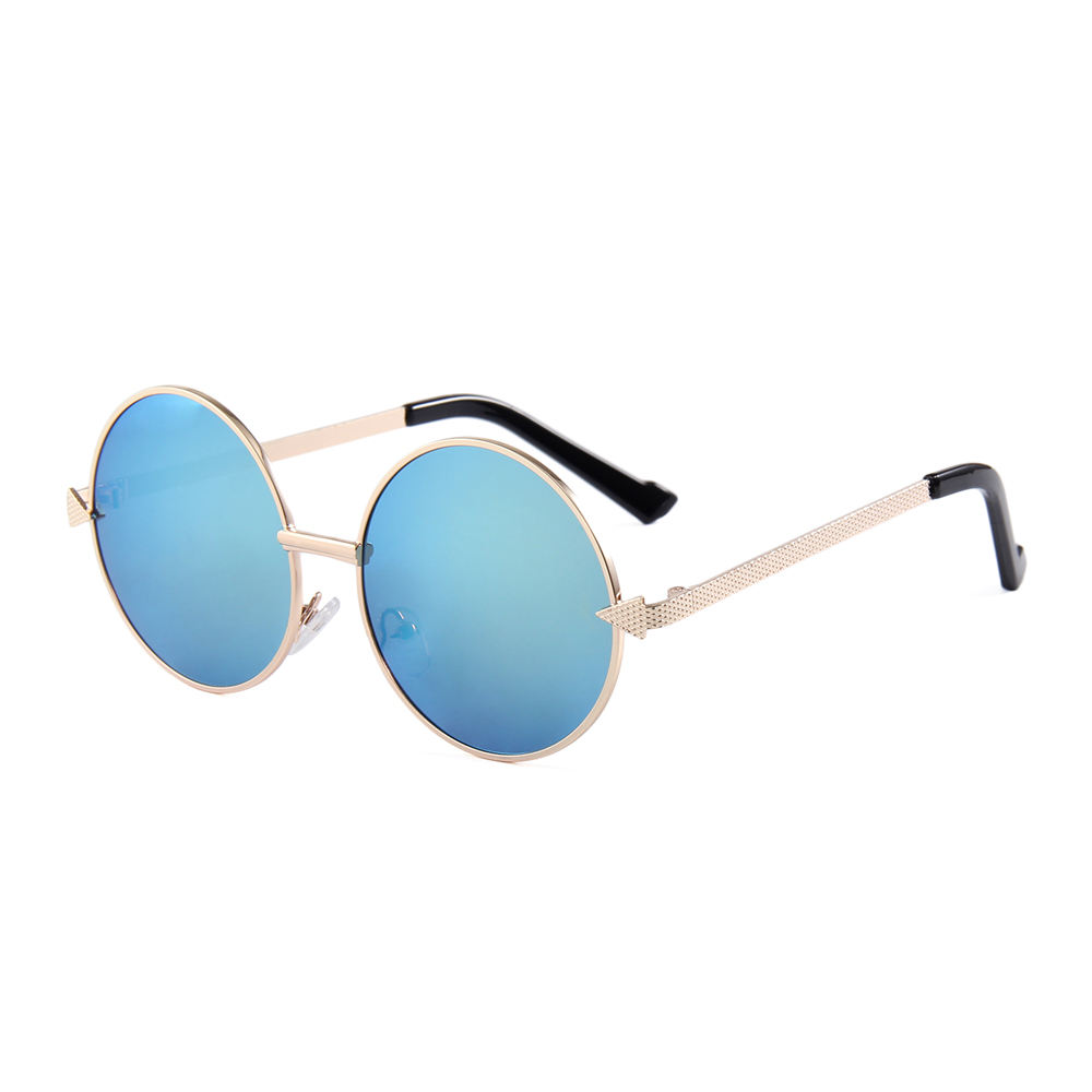 Gold frame blue UV400 lens 2019 Metal Coach TOP quality sunglasses for ladies