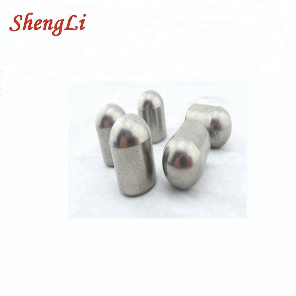 Tungsten carbide hemispherical button bits for DTH hammers