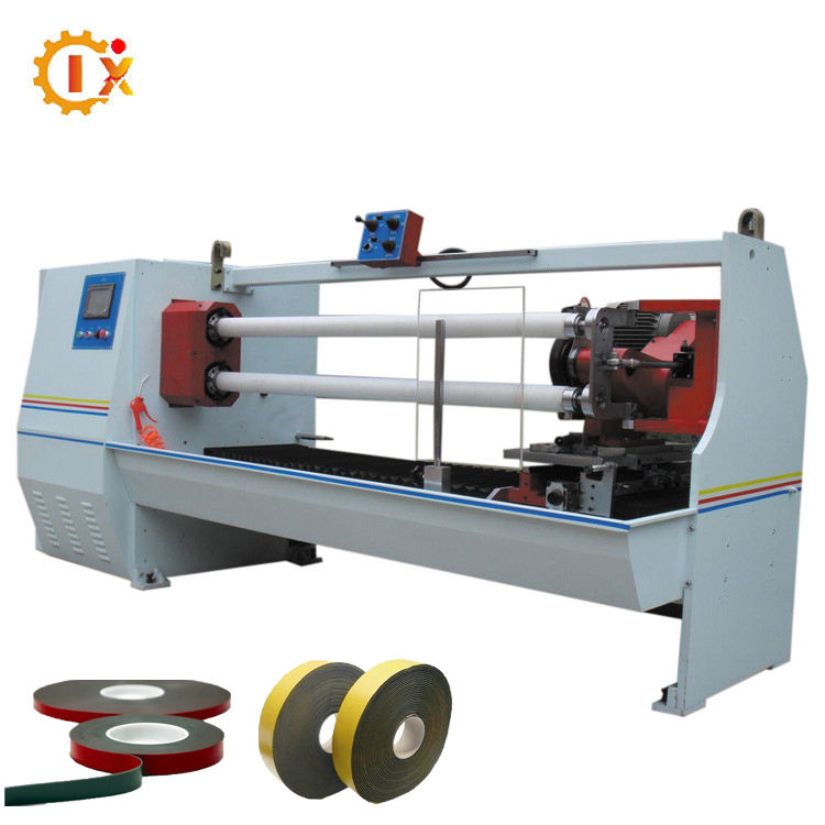 GL-702 PLC pvc electrical , masking paper, double sided log roll cutting machine