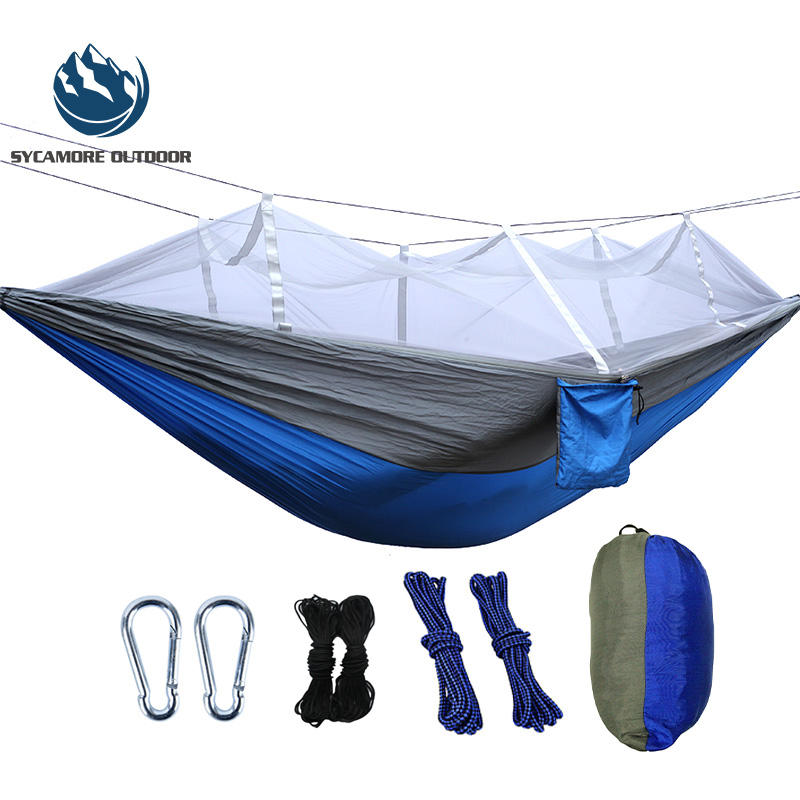 Fashion outdoor <span class=keywords><strong>camping</strong></span> <span class=keywords><strong>hängematte</strong></span> tragbare nylon <span class=keywords><strong>hängematte</strong></span> mit moskito net
