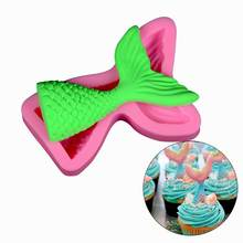 Silicone Mermaid Tail Cake Molds Baking Tray Non Stick Fondant Cakes Chocolate Creative Decoration Christmas Bakeware Tools