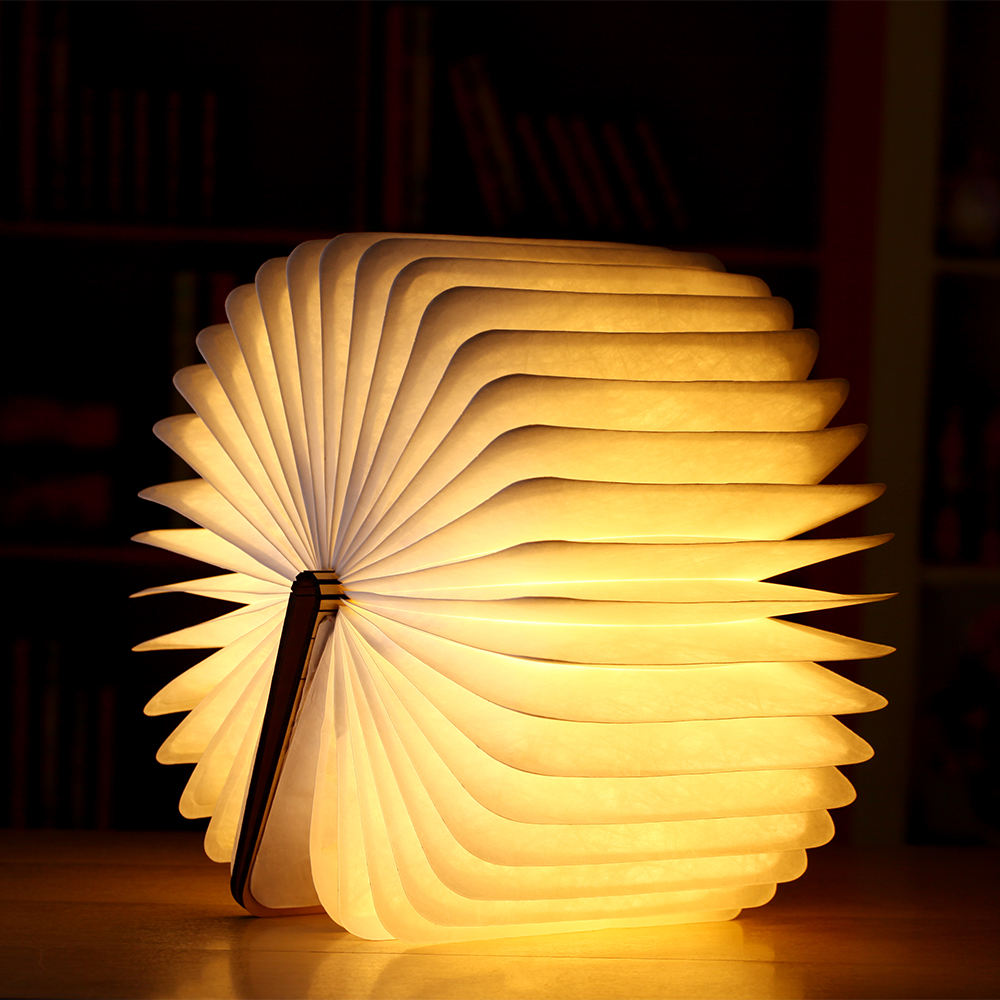 Factory Wholesale Wooden Book Lamp Color Changeable Led Book Reading Lamp