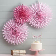 DIY Hanging Round Paper Fan for Wedding Decorations