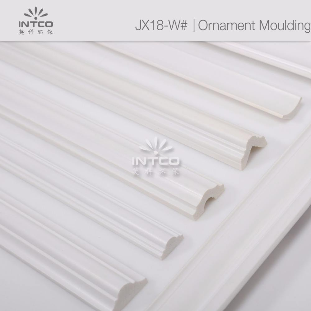 INTCO white waterproof home decor raw material decoration moulding