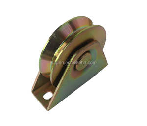 Double bearing sliding gate wheel