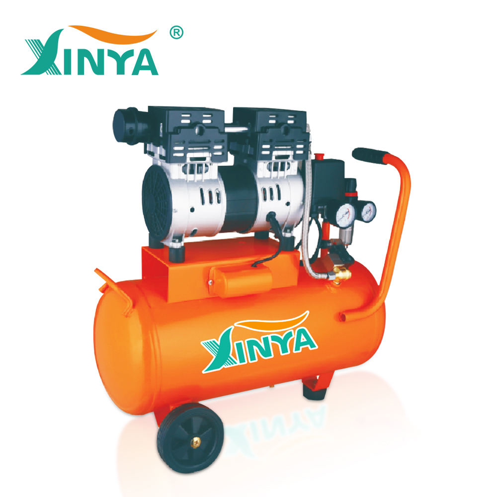 30l 100% oil free 무소음 twin cylinder 1 hp air compressor