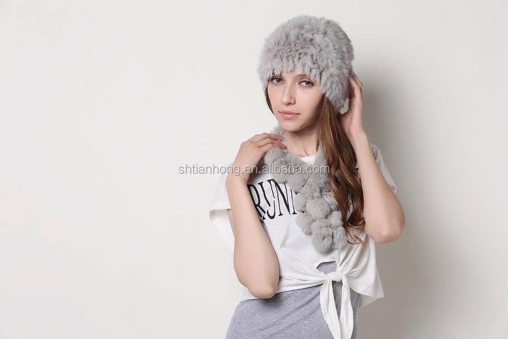 Recém Moda Malha Moda Inverno Chapéu De Pele De Alpaca
