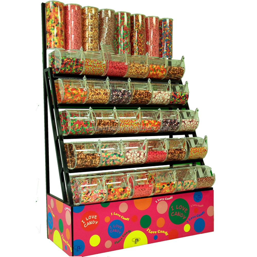 Große bonbons mutter display rack mit acryl (FD-A-001)