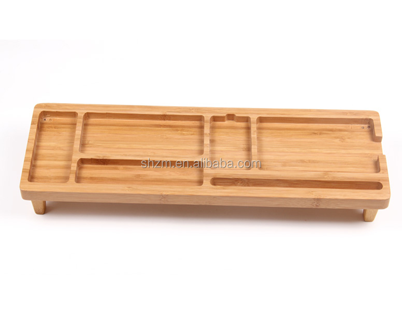 Desk Stationery Organiser Pen Pencil Holder Bamboo Desktop Organiser wholesale
