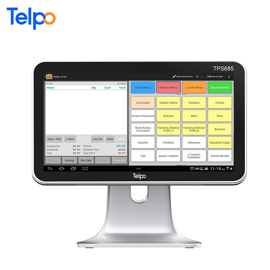 풍부한 interface touch pos lcd customer 디스플레이 computer cash payment 기계