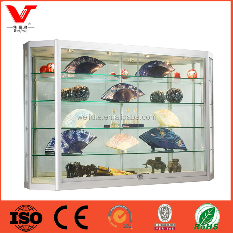 Moderne glas aluminium vitrine metall rack metallständer portable regal metall arbeitsplatte display rack