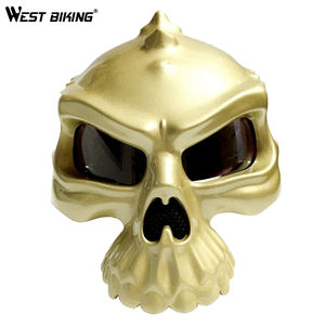 WEST BIKING Cycling Helmet Skull Adult Motorcycle Helmet  Open Face Retro Motorbike Casco Capacete Ciclismo Bicycle Helmet