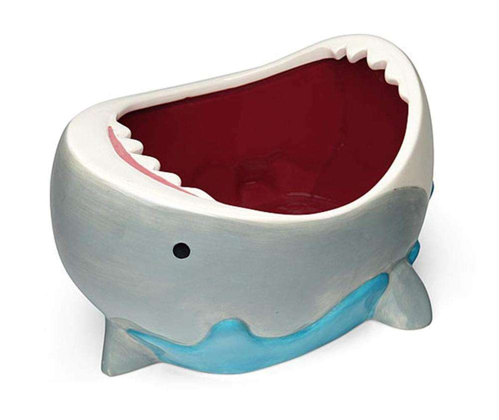 Ceramic Shark Attack Bowl candy holder Halloween decoration