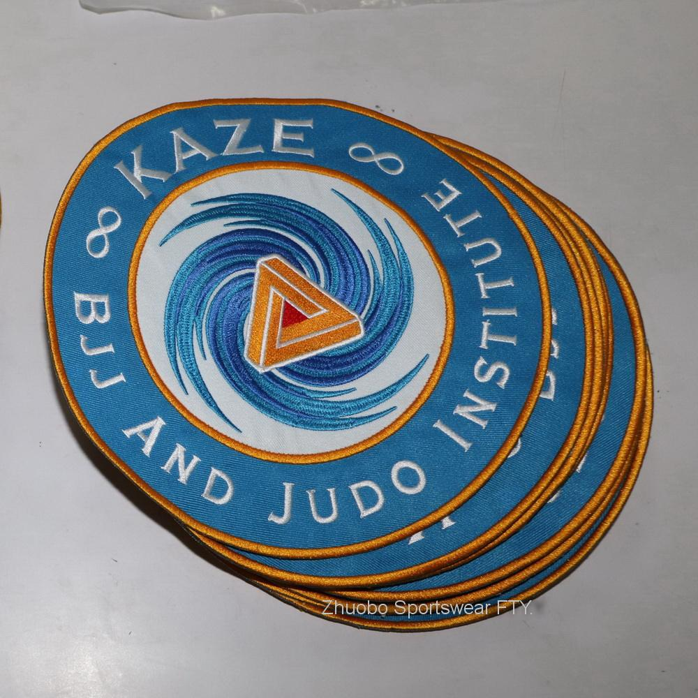 Customized woven patch BJJ GI embroidery patches