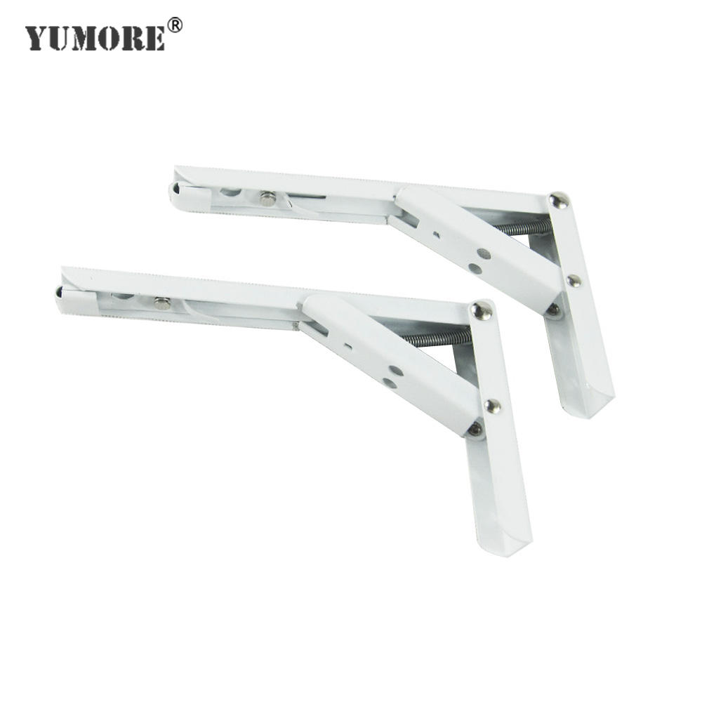 Utility stainless steel hanger metal folding steel mounting shelf bracket