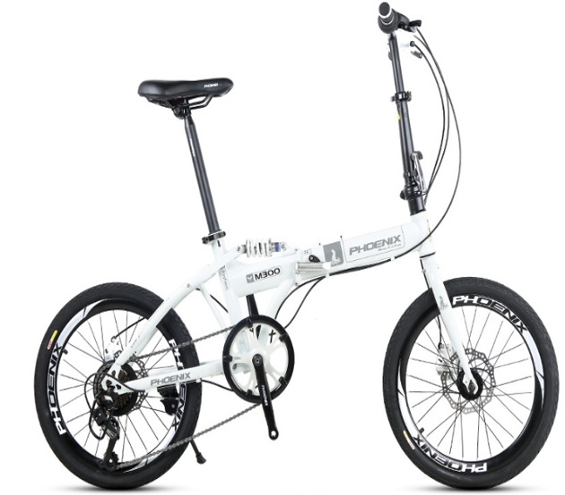 1Phoenix folding bike convenient and durable 7 speed bicycle