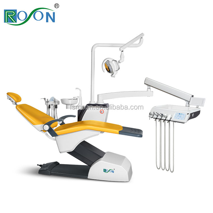 Roson NEW model S6 dental chairs 4 Way foot control separate hospital LED light dental unit factory price